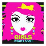"""311 Sweet Neon Punk Invite 5.25"""" Square Invitation Card"""