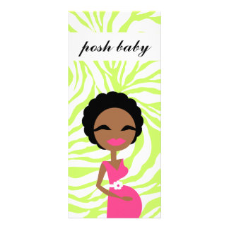 311 Sweet Pregnant Mommy Zebra Lime Ethnic Rack Card Design