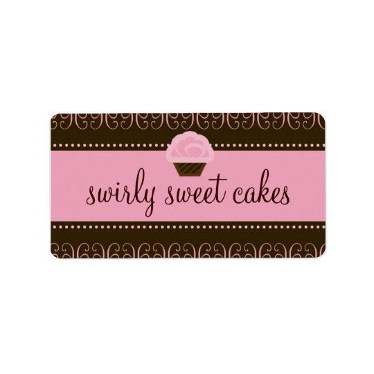 311 Swirly Sweet Address Label