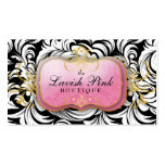 311 The Lavish Pink Plate White Leaves Pack Of Standard Business Cards