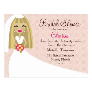 311-TOO CUTIE CLARISSA BRIDE BLONDE POSTCARDS