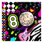 311-Totally the 80s Party - Pink Guitar Disco Ball Personalized Invite