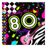 311-Totally the 80s Party - Pink Guitar Personalized Invitations