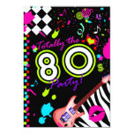 311 Totally the 80s Party - Red Guitar 13 Cm X 18 Cm Invitation Card
