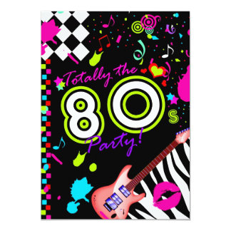 311 Totally the 80s Party - Red Guitar Personalized Announcement