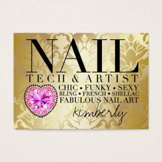 311 Tres Chic Damask Nail Tech Diamond Heart