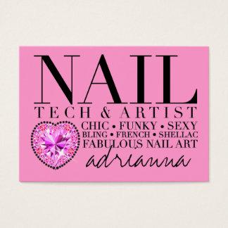 311 Tres Chic Pink Nail Tech Diamond Heart