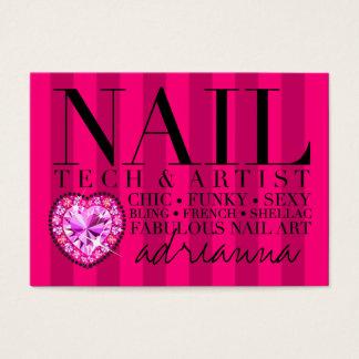 311 Tres Chic Pink Stripes Nail Tech