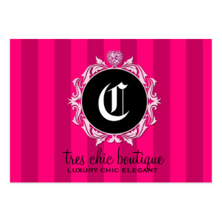 311 Tres Chic Pink Stripes Pack Of Chubby Business Cards