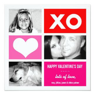 311 Triple Square Valentine Custom 13 Cm X 13 Cm Square Invitation Card
