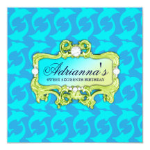 Birthday dolphin cards invitations zazzle filmwisefo Gallery