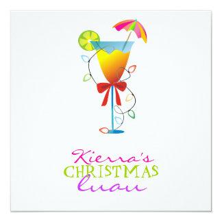 311-Tropical Paradise Christmas Luau 13 Cm X 13 Cm Square Invitation Card