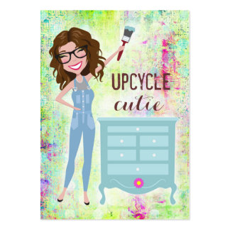 311 Upcycle Cutie Brunette Fuller Figured Pack Of Chubby Business Cards