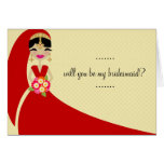 311 UPDO BRIDE Will You Be My Bridesmaid Greeting Card