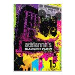 "311 Urban Setting Blackout Party 5"" X 7"" Invitation Card"