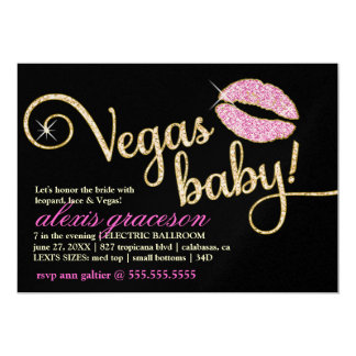 311 Vegas Baby Glitzy Kiss Metallic Card