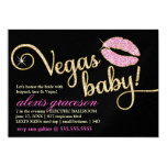 311 Vegas Baby Sparkle Kiss Metallic Custom Announcements
