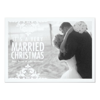 311 Very Married Christmas Holiday Photo Card 13 Cm X 18 Cm Invitation Card