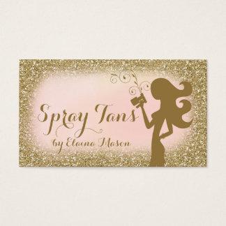 311 Vintage Glam Spray Tan Fashionista Glitter Business Card