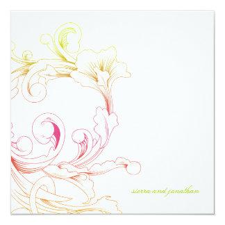 311-Vivid Foliage Flare 13 Cm X 13 Cm Square Invitation Card