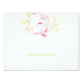 311-Vivid Foliage Flare RSVP 11 Cm X 14 Cm Invitation Card