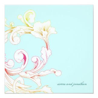 311-Vivid Foliage Flare Sky 13 Cm X 13 Cm Square Invitation Card