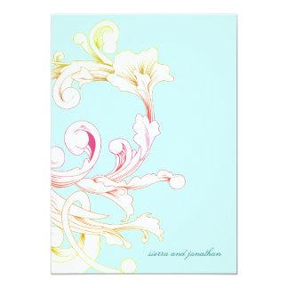 311-Vivid Foliage Flare Sky 13 Cm X 18 Cm Invitation Card