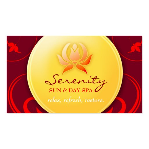 311 Warm Spa Delight Business Card Template
