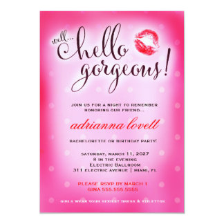 311 Well Hello Gorgeous Party 13 Cm X 18 Cm Invitation Card