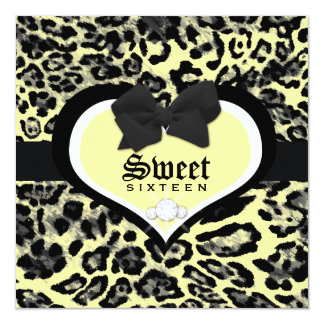 311 Wild at Heart Sweet Sixteen   Quinceanera 13 Cm X 13 Cm Square Invitation Card