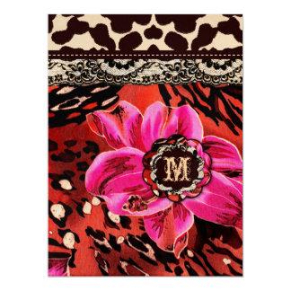 311 Wild Lily Pink Leopard 6.5x8.75 17 Cm X 22 Cm Invitation Card