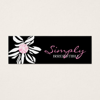 311 Wild Zebra Flower Pink Diamond Mini Business Card