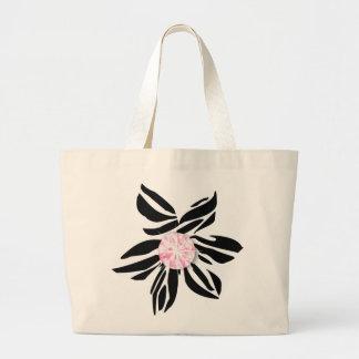 311-Wild Zebra Flower | Pink Diamond Jumbo Tote Bag