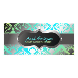 311 Zeopard Sign & Damask Shimmer Paradise Lime Custom Rack Card