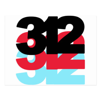 312 Area Code Postcard