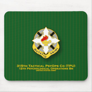 315th Tactical PsyOps Co - TPU DUI Mouse Pad