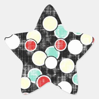 _316_summer-school-1-paper-circles GRUNGE CIRCLES Star Sticker