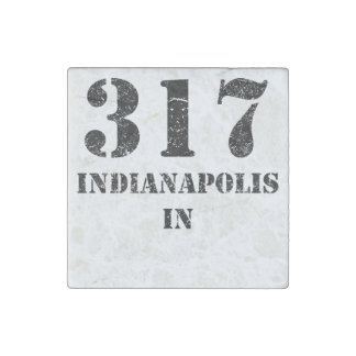 317 Indianapolis IN Stone Magnet
