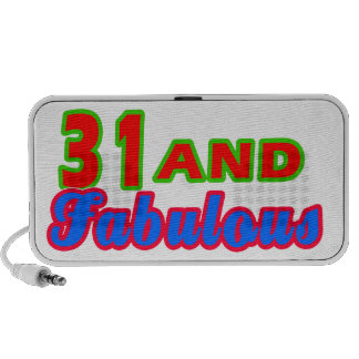 31 and Fabulous Birthday Designs PC Speakers