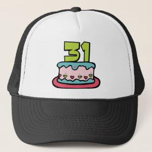 31 Year Old Birthday Cake Trucker Hat