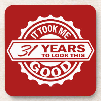 31st Birthday Beverage Coaster