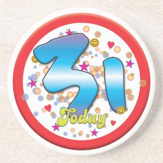 31st Birthday Today Beverage Coaster