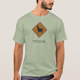 320px-Road_sign_llama.svg, TINA T-Shirt