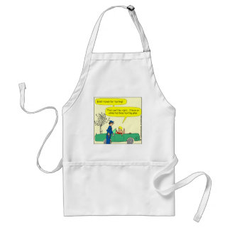 323 Free texting ticket color cartoon Standard Apron