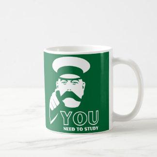 325ml Stirling University student Green coffee mug