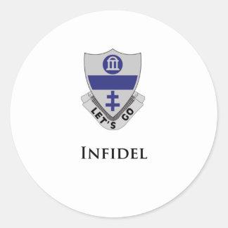 325th PIR- Infidel Classic Round Sticker