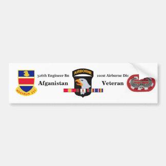 326th Engineer Battalion Afgan Vet Bumper Sticker
