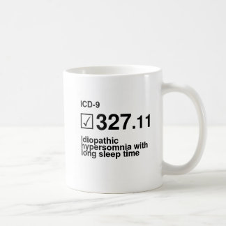 327.11, Idiopathic hypersomnia with long sleep tim Coffee Mug