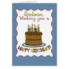 3292 Godson Birthday Cake Card