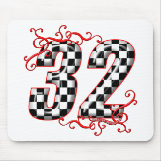 32 auto racing number mouse pads